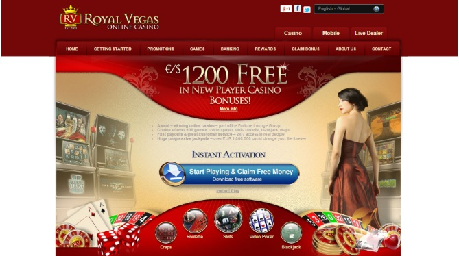Royal Vegas $1200 Bonus